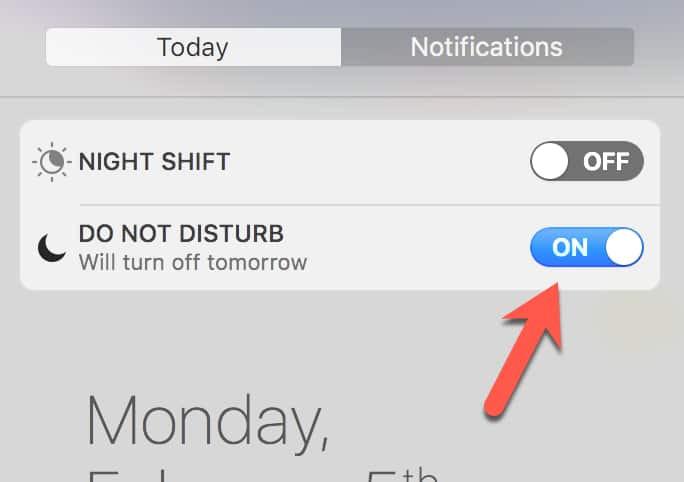 Do Not Disturb Mode On MacOS
